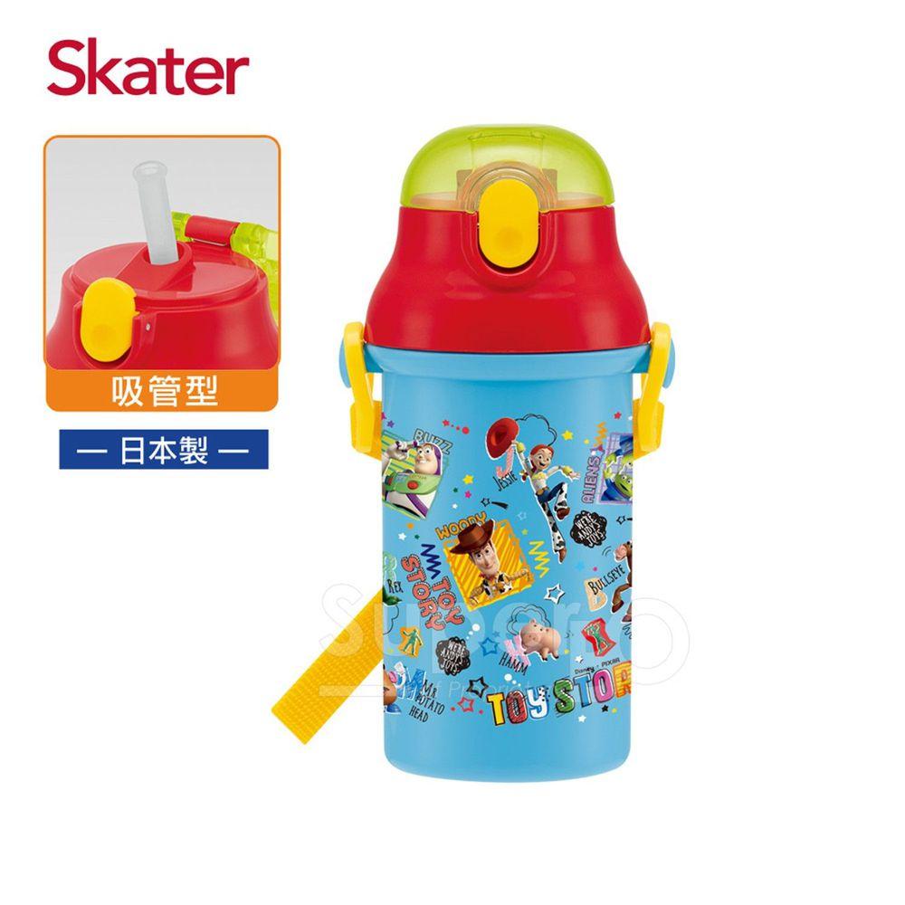 日本 SKATER - 吸管冷水壺(400ml)兒童水壺-ToyStory