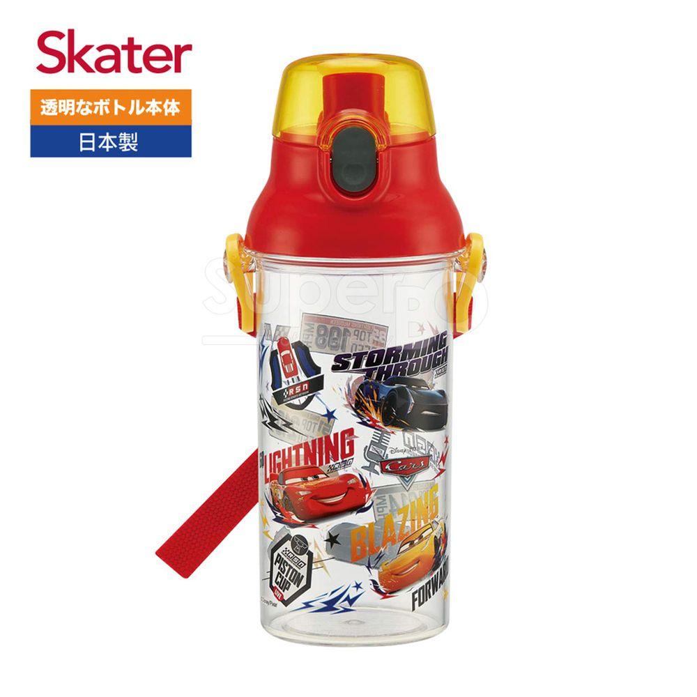 日本 SKATER - 兒童直飲透明水壺 (480ml)-閃電麥昆RACE