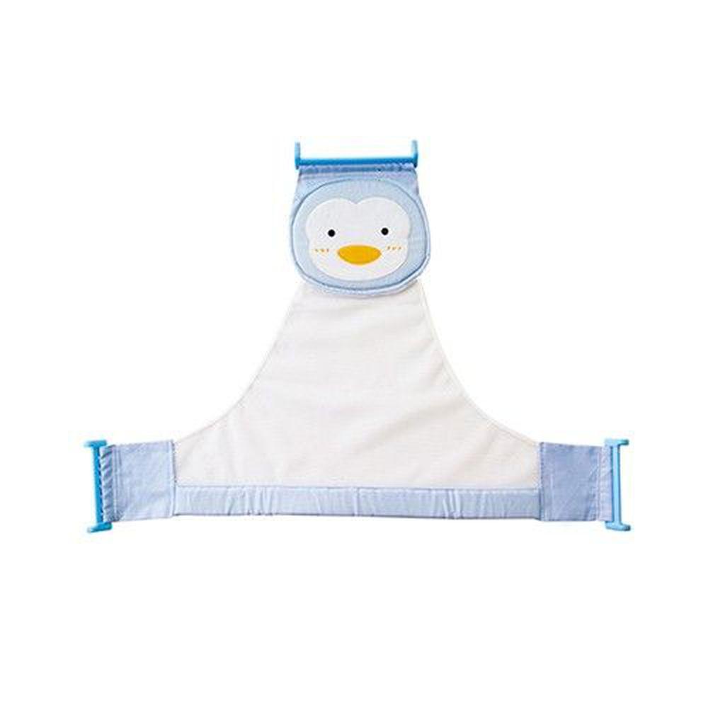 PUKU 藍色企鵝 - 可調式沐浴網-水色