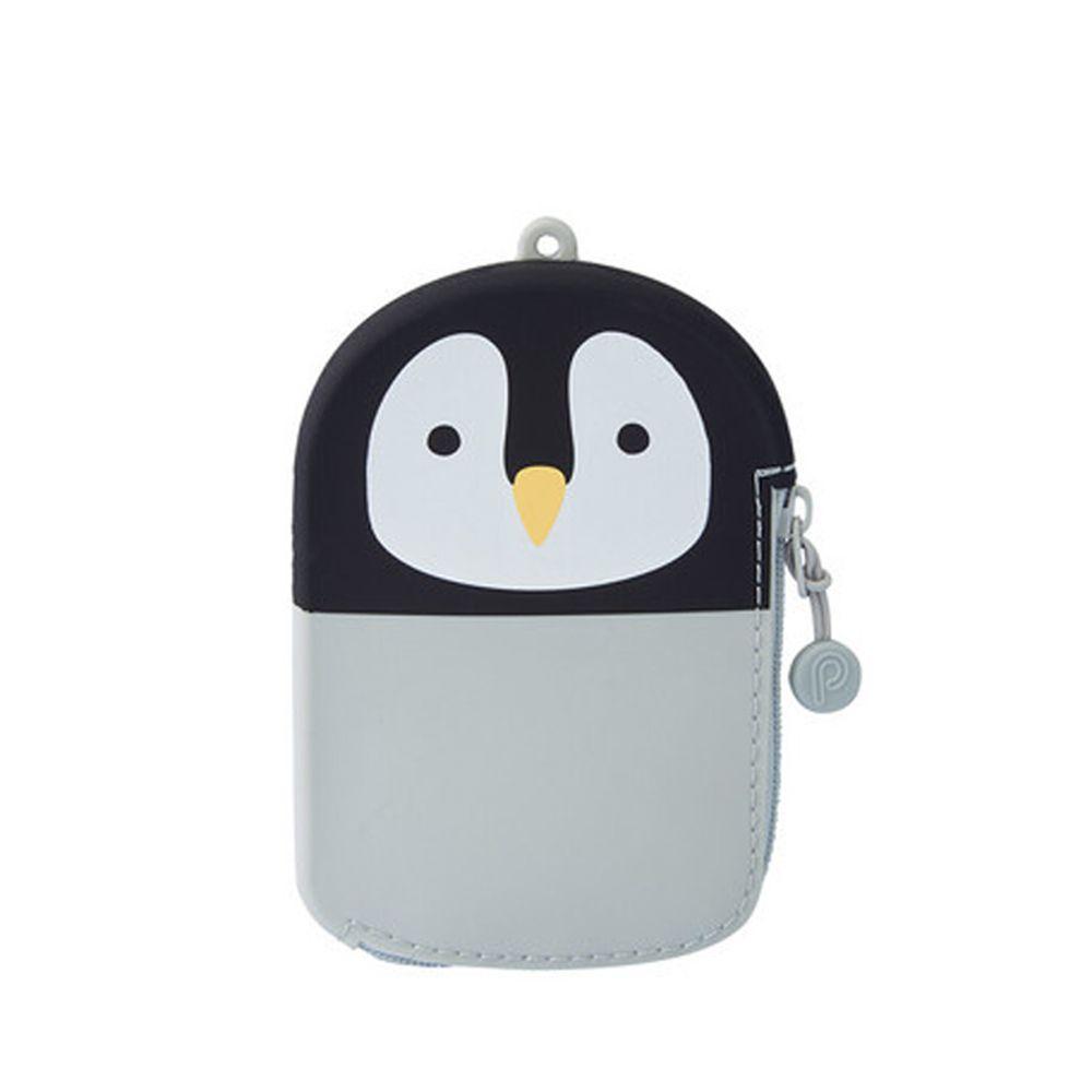 日本文具 LIHIT - 悠遊卡套拉鍊零錢包-企鵝