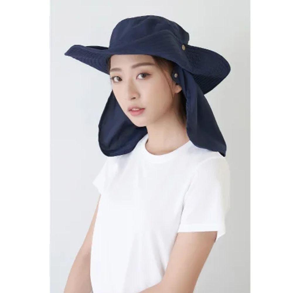 貝柔 Peilou - UPF50+多功能休閒遮陽帽-丈青色 (頭圍: 58cm)