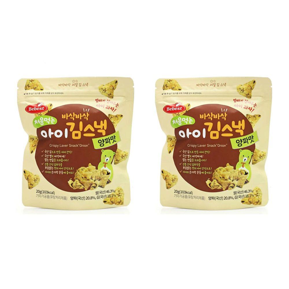韓國Bebest貝思 - 海苔脆點心2入組-(洋蔥*2)