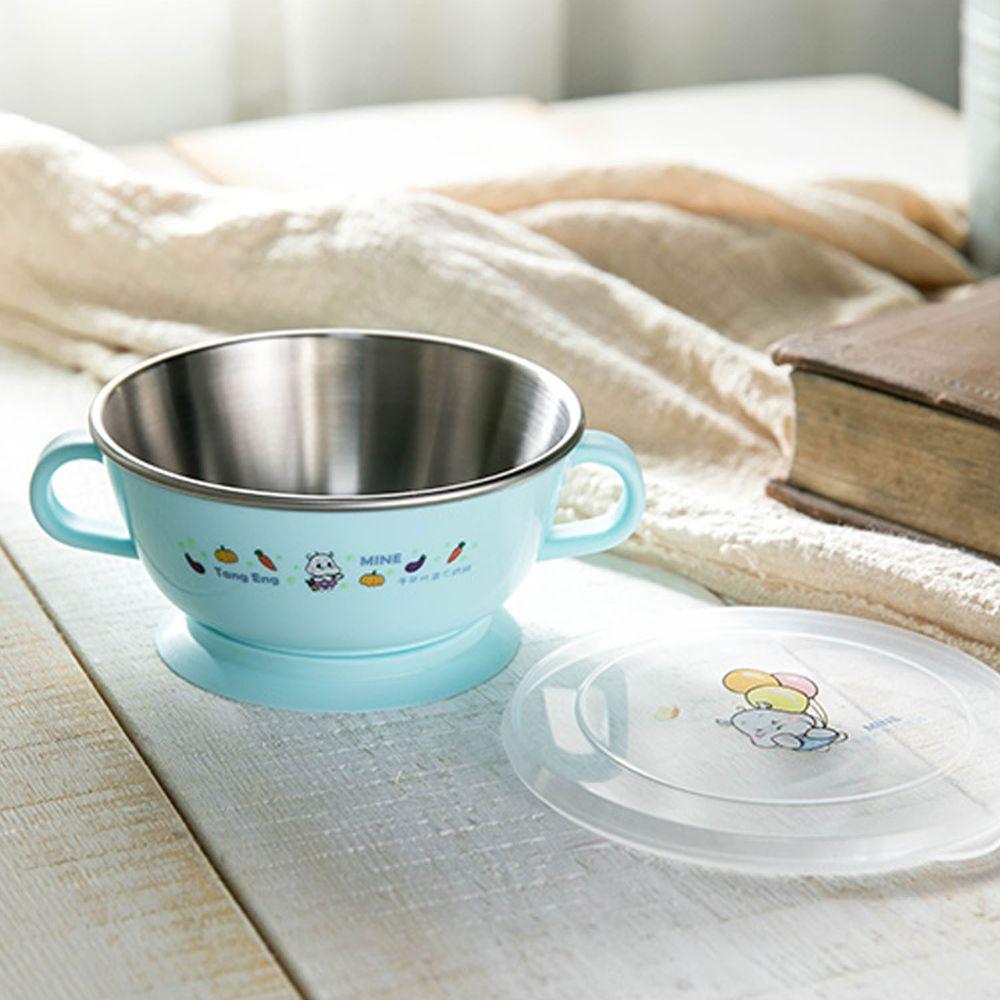 MINE唐榮 - 抗菌嬰幼兒學習碗-藍色