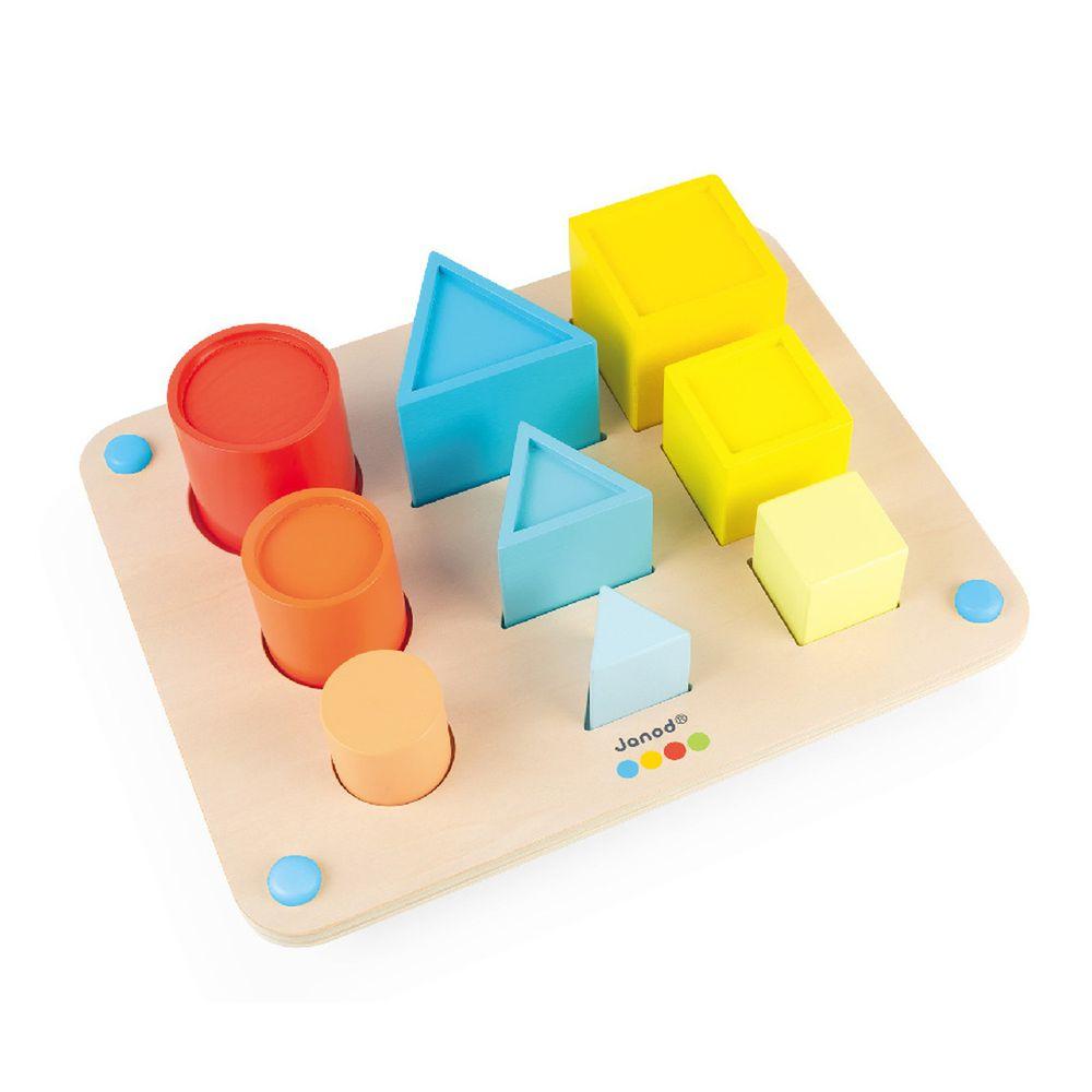 Janod - 小小STEAM系列-立體形狀板