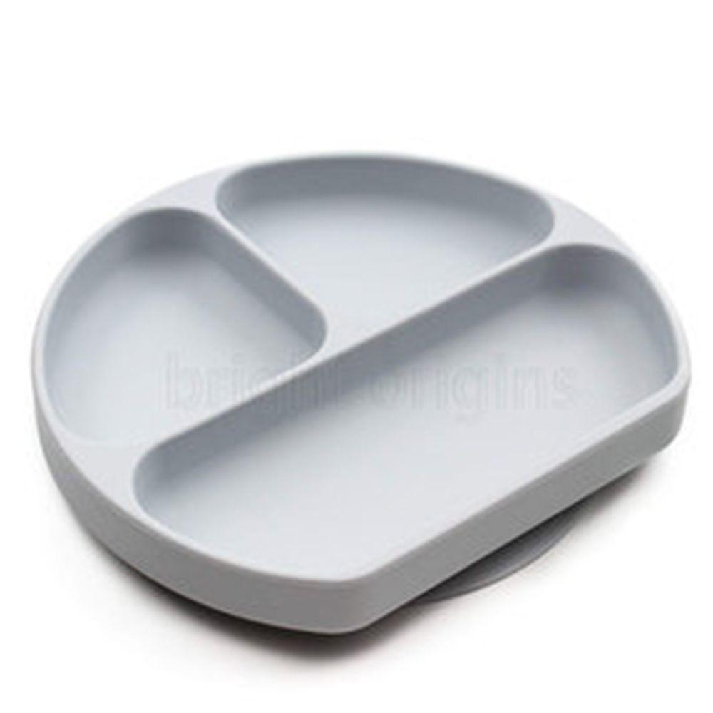 美國 Bumkins - 矽膠餐盤-灰色