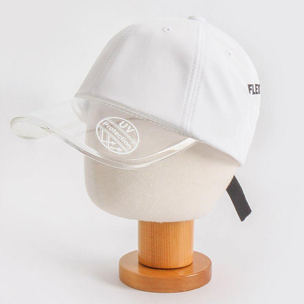 韓國 Babyblee - 抗UV遮陽板棒球帽-白 (頭圍:50-54cm)