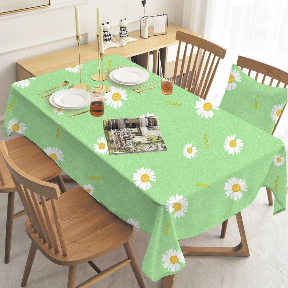防水防油免洗桌布-小雛菊-綠色