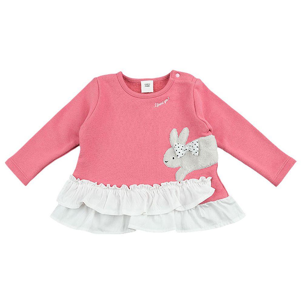 akachan honpo - 長袖休閒上衣 動物-粉紅色
