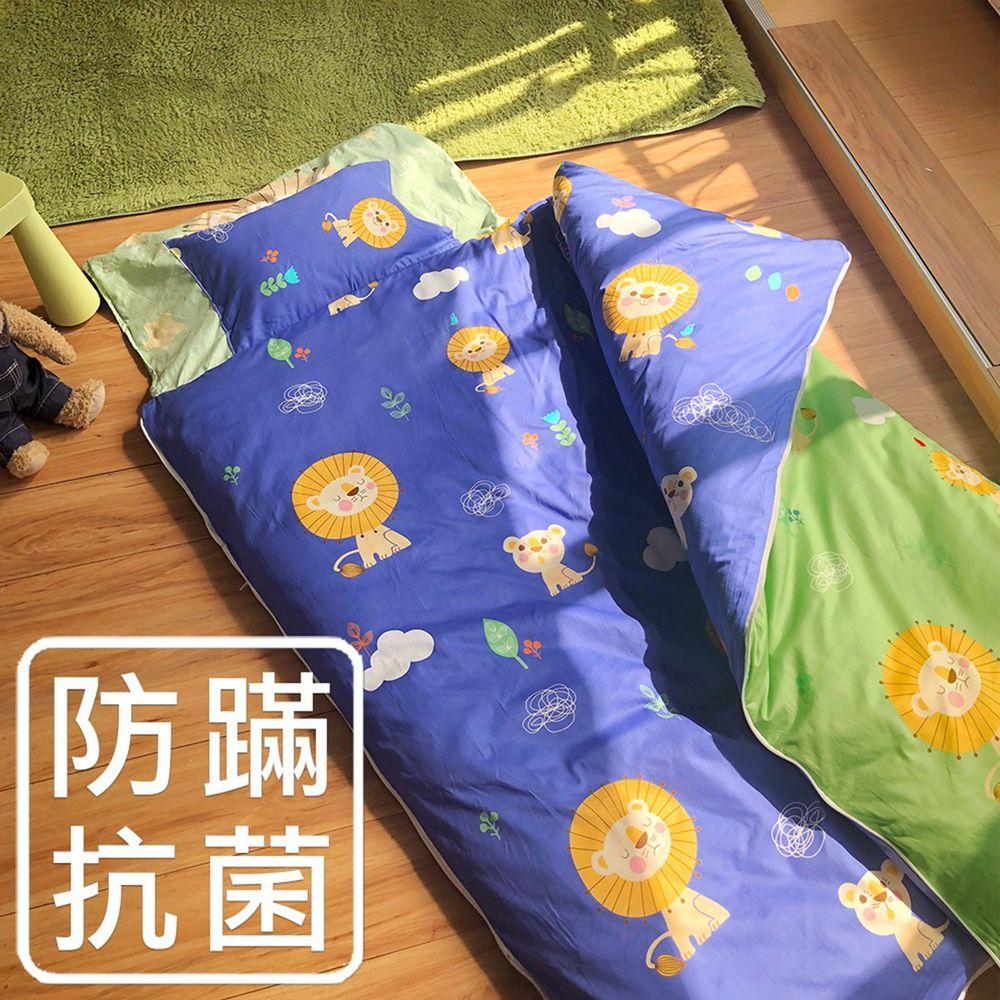 鴻宇HONGYEW - 防螨抗菌100%美國棉鋪棉兩用兒童睡袋-暖暖獅