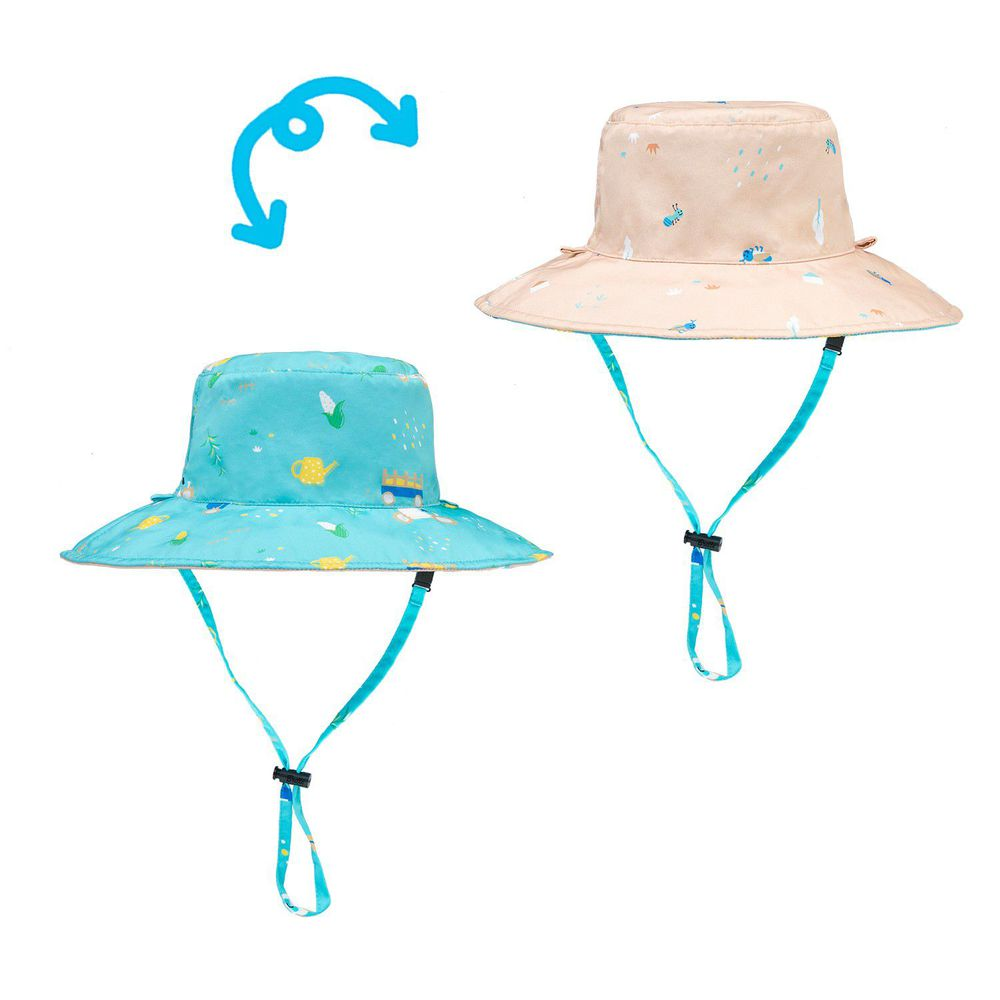 Brille Brille - 雙面防曬漁夫帽-金色麥田 (3-6歲(頭圍45-55cm))-附收納網袋