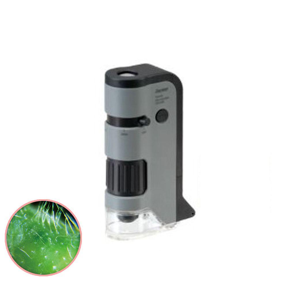 日本 Raymay - 攜帶式隨身顯微鏡-100-250倍率-灰
