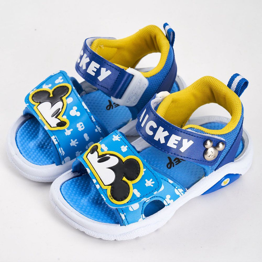 akachan honpo - 米奇經典造型休閒涼鞋-藍色