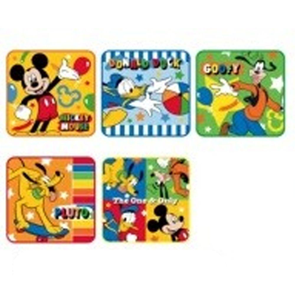 日本代購 - 卡通方形小手帕五件組-米奇四好友 (15x15cm)