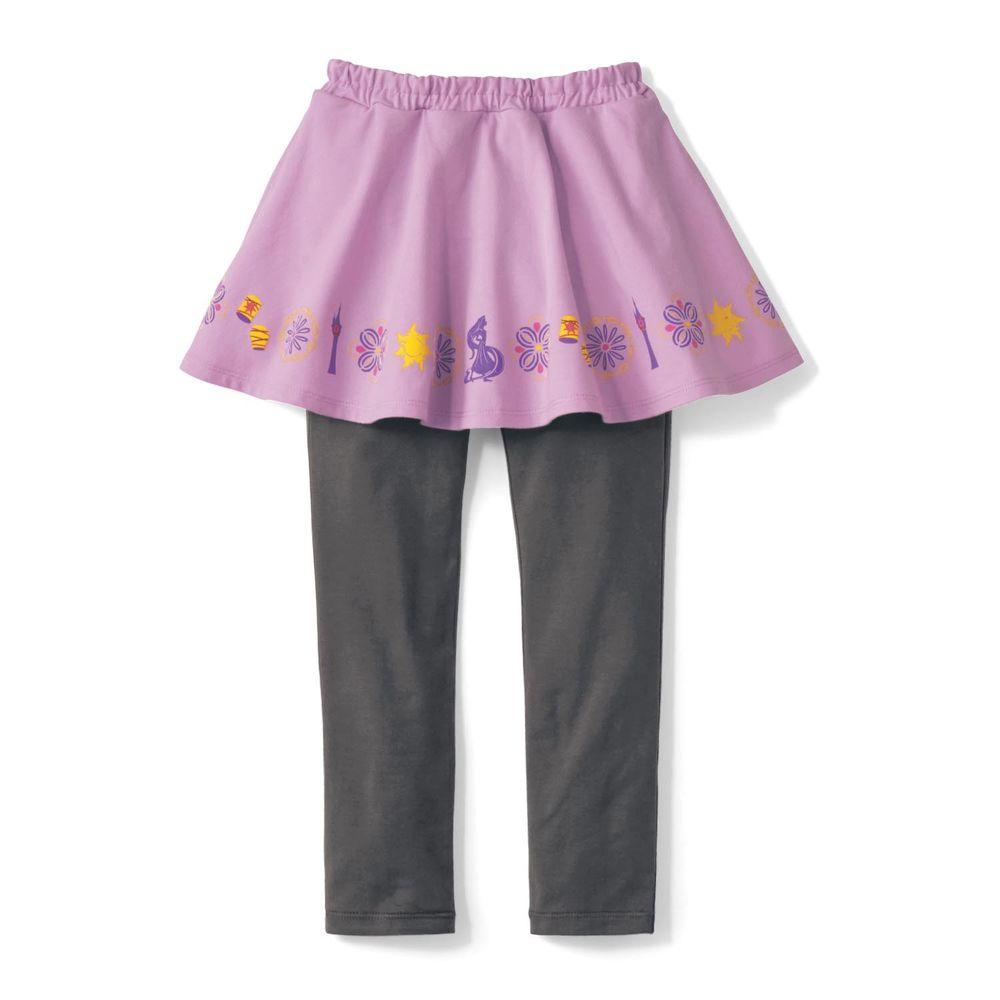 日本千趣會 - 迪士尼印花內搭褲裙-長髮公主-紫灰