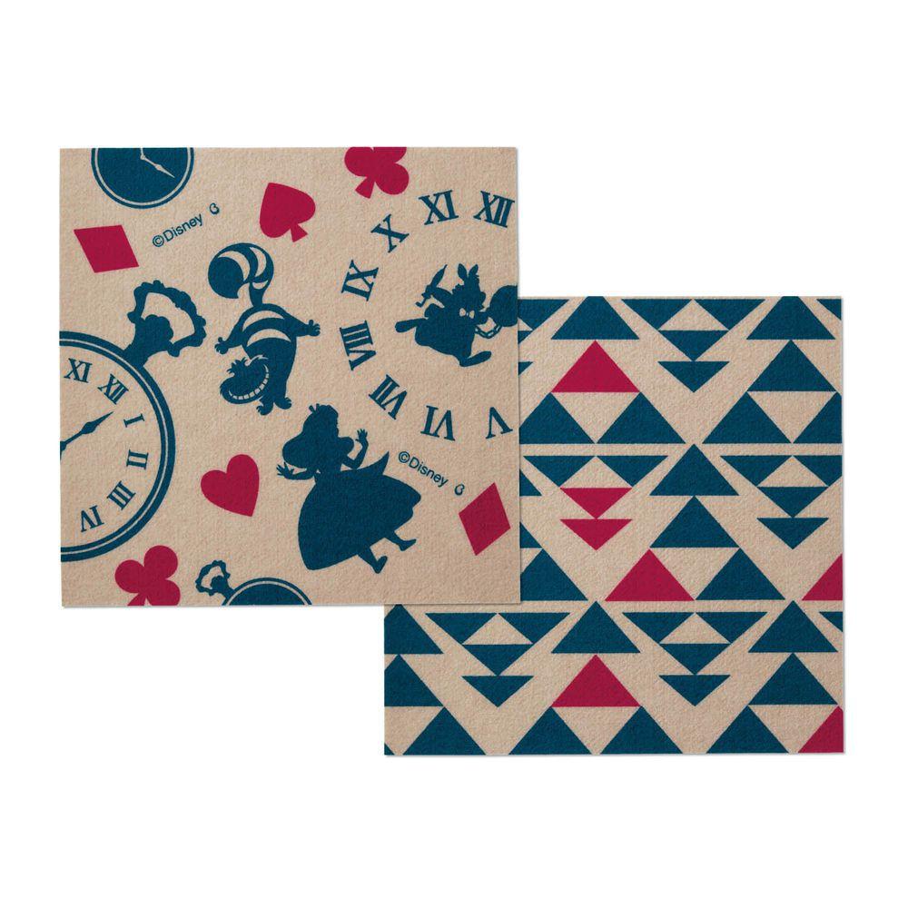 日本千趣會 - 迪士尼 日本製室內輕薄地毯(可機洗)-愛麗絲 (30x30cm)-各色2枚(共6枚)