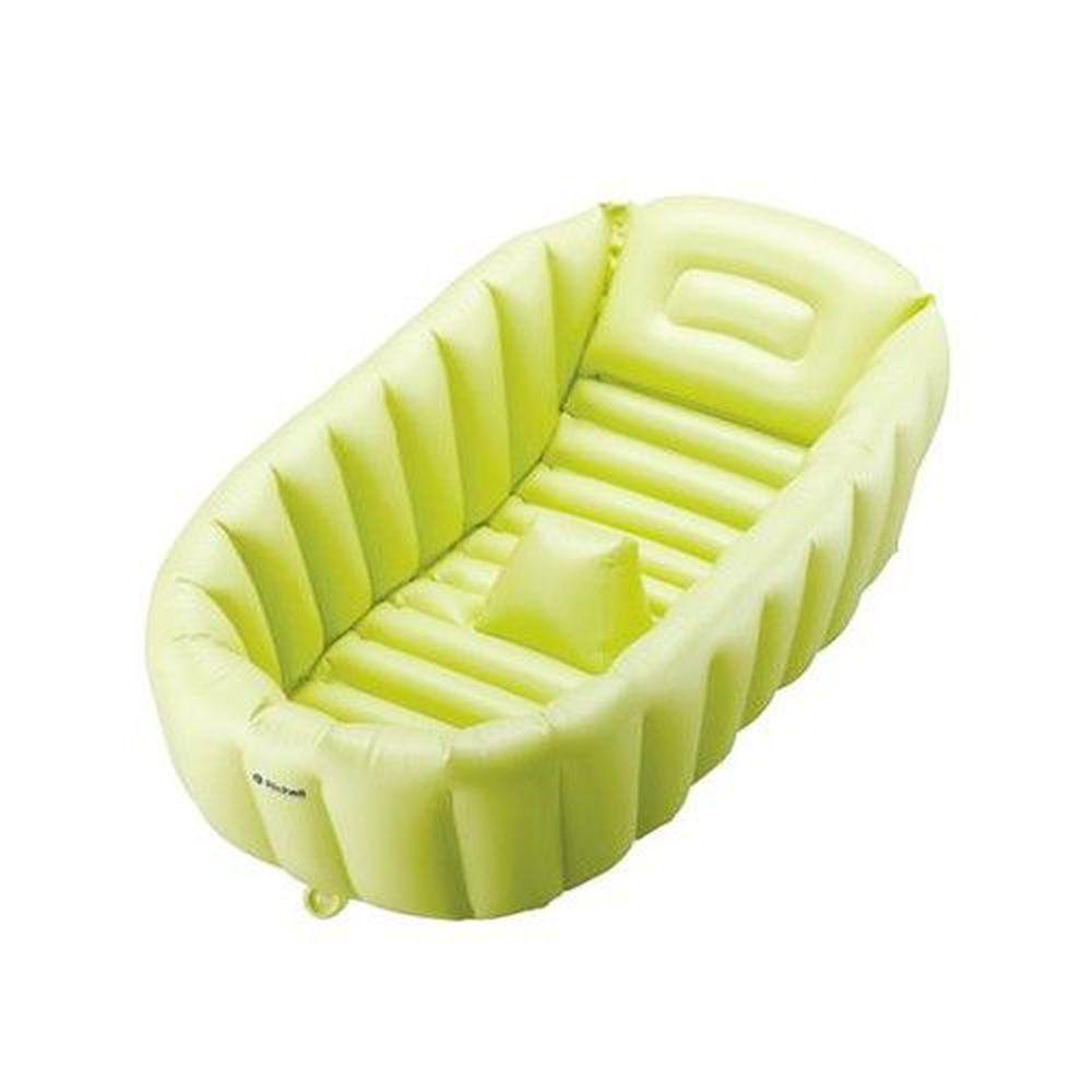 日本 Richell 利其爾 - 充氣式嬰兒浴盆-附打氣泵補-綠色 (新生兒起~60cm)