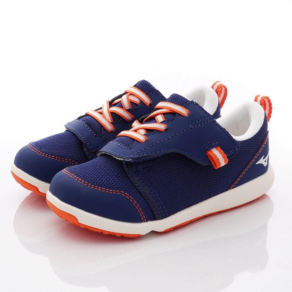 MIZUNO 美津濃 - 超輕量大絆帶機能鞋款(中童段)-深藍