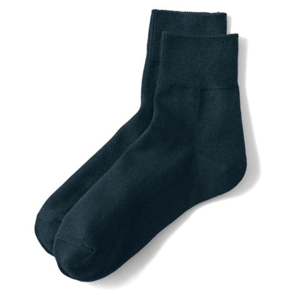 日本千趣會 - 棉混 (媽媽)短筒發熱襪兩件組-黑*2 (23-25cm)