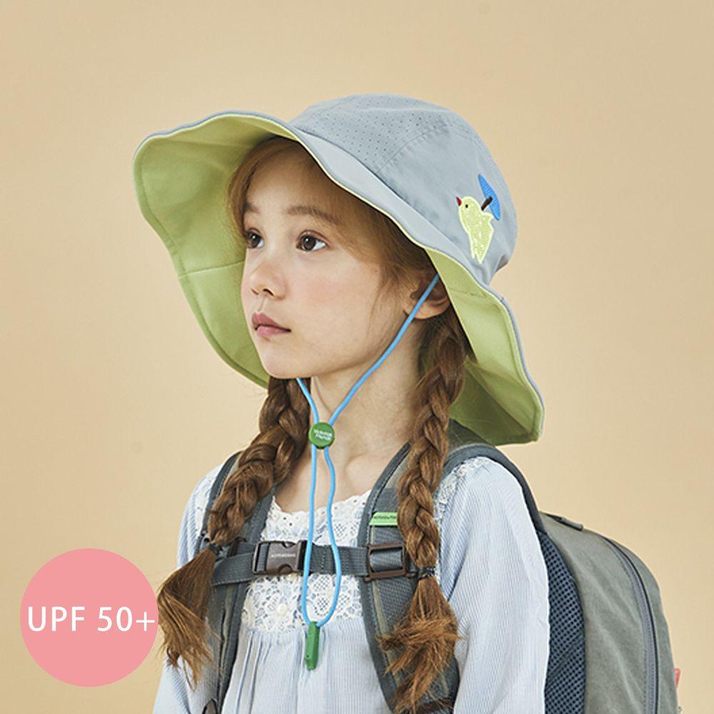 韓國 Victoria & Friends - UPF 50+ 透氣軟鋼絲遮陽帽(附哨子)-灰