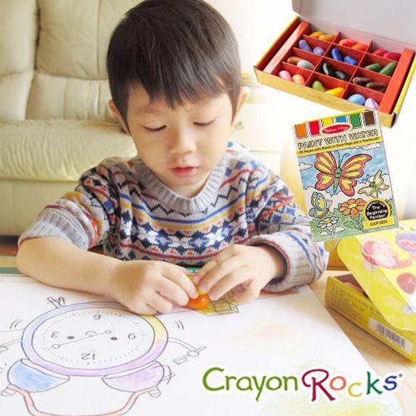 美國【Crayon Rocks 酷蠟石】100% 天然安全大豆蠟~畫畫吃手手也不怕✌