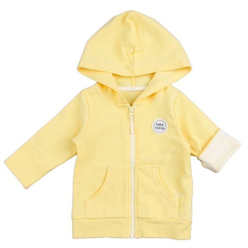 akachan honpo - 抗UV連帽外套-黃色