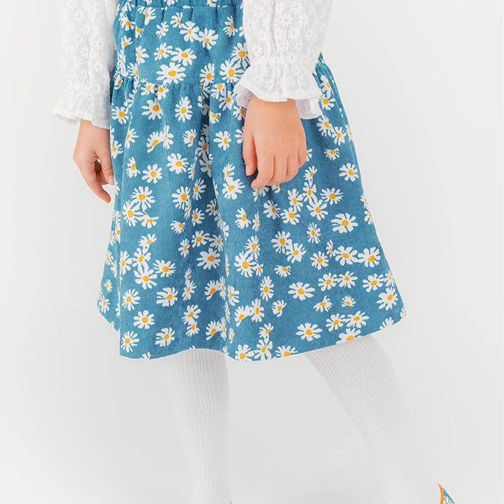 韓國 OZKIZ - 滿版雛菊燈芯絨半長裙