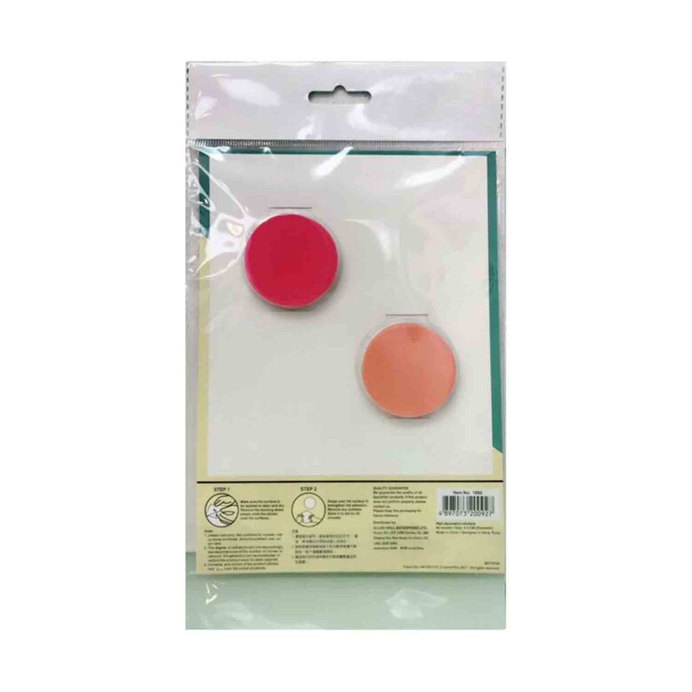 Kiss貼貼 - Kiss貼貼靜電無痕隨變貼 可愛圓點點 (桃紅+橘)-桃紅 X 40pcs+橘 X 40pcs 共80張(直徑4.5cm)