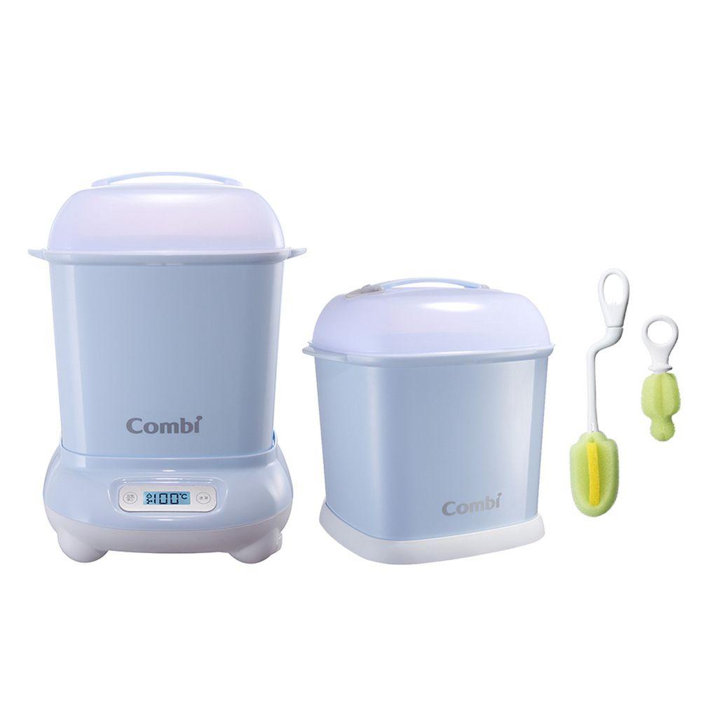 日本 Combi - Pro 360高效消毒烘乾鍋-超值優惠組 H-靜謐藍-消毒鍋+保管箱+刷具組