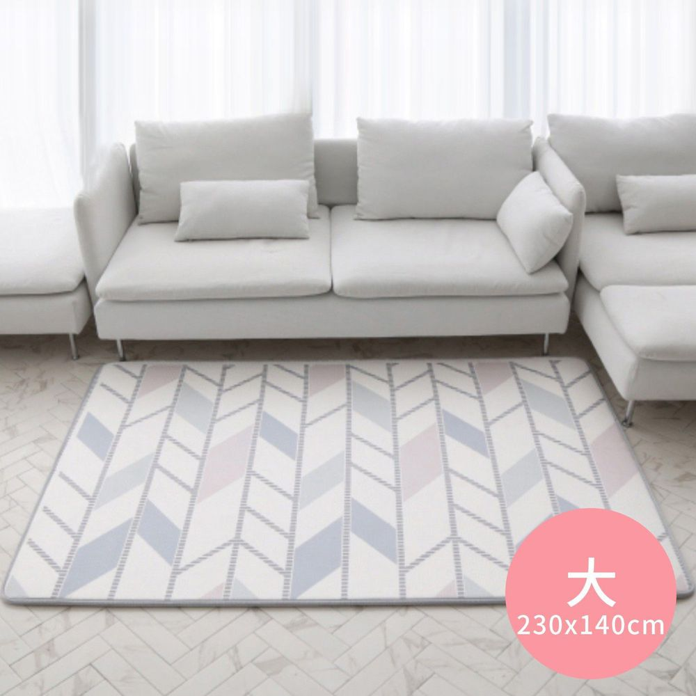 韓國 Foldaway - SKIN爬行墊-大-Herringbone 粉彩格紋 (230x140cm)