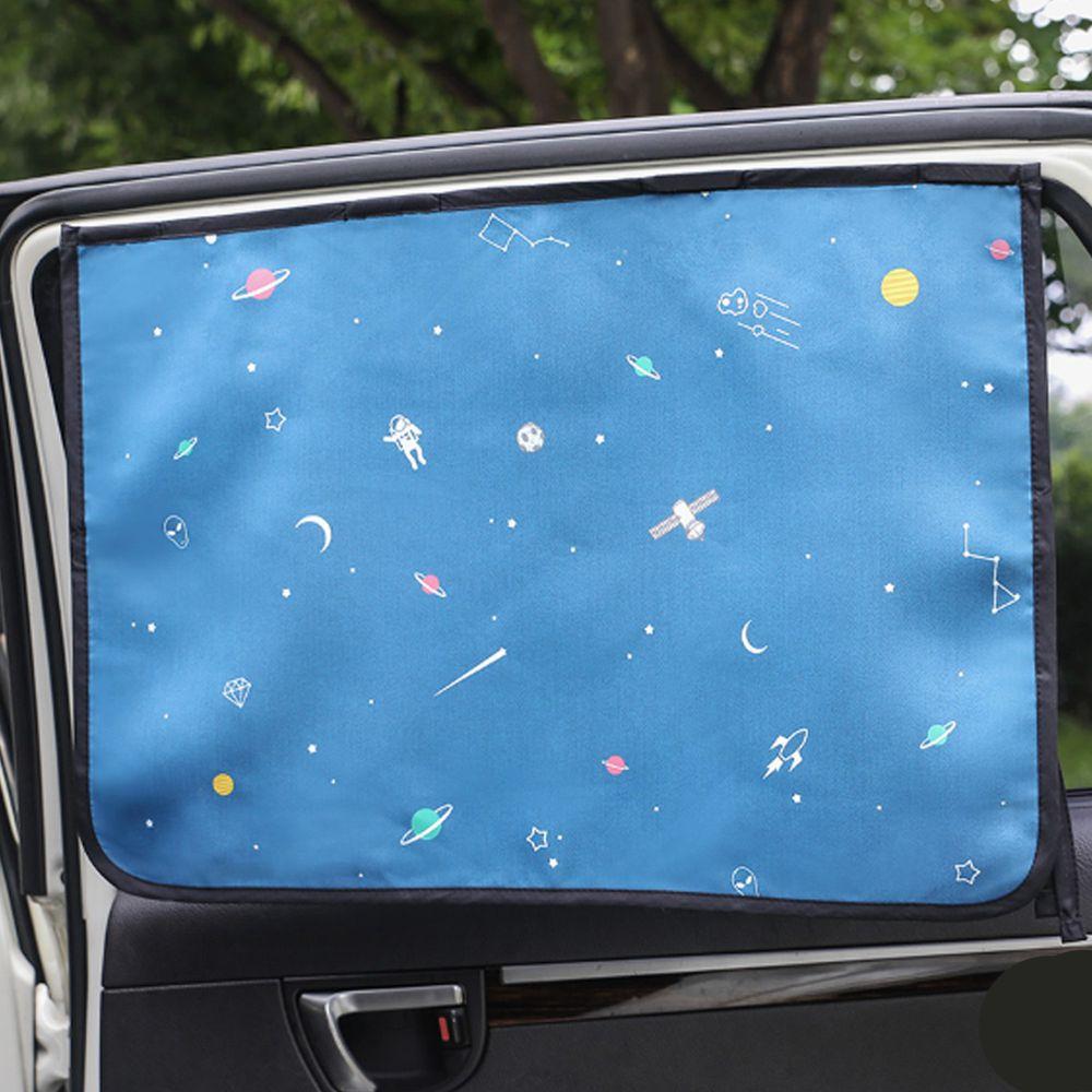 韓國 Bebe Deco - 完美遮光六層磁鐵遮陽窗簾-宇宙旅行 (65*45cm)