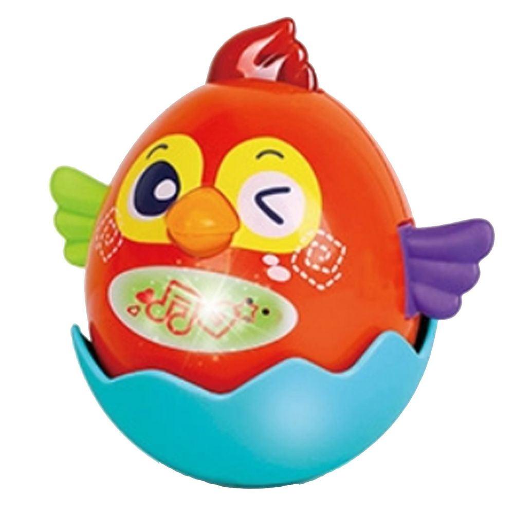 香港 HOLA - 幼兒聲光玩具-互動寶貝蛋-火焰蛋(紅)
