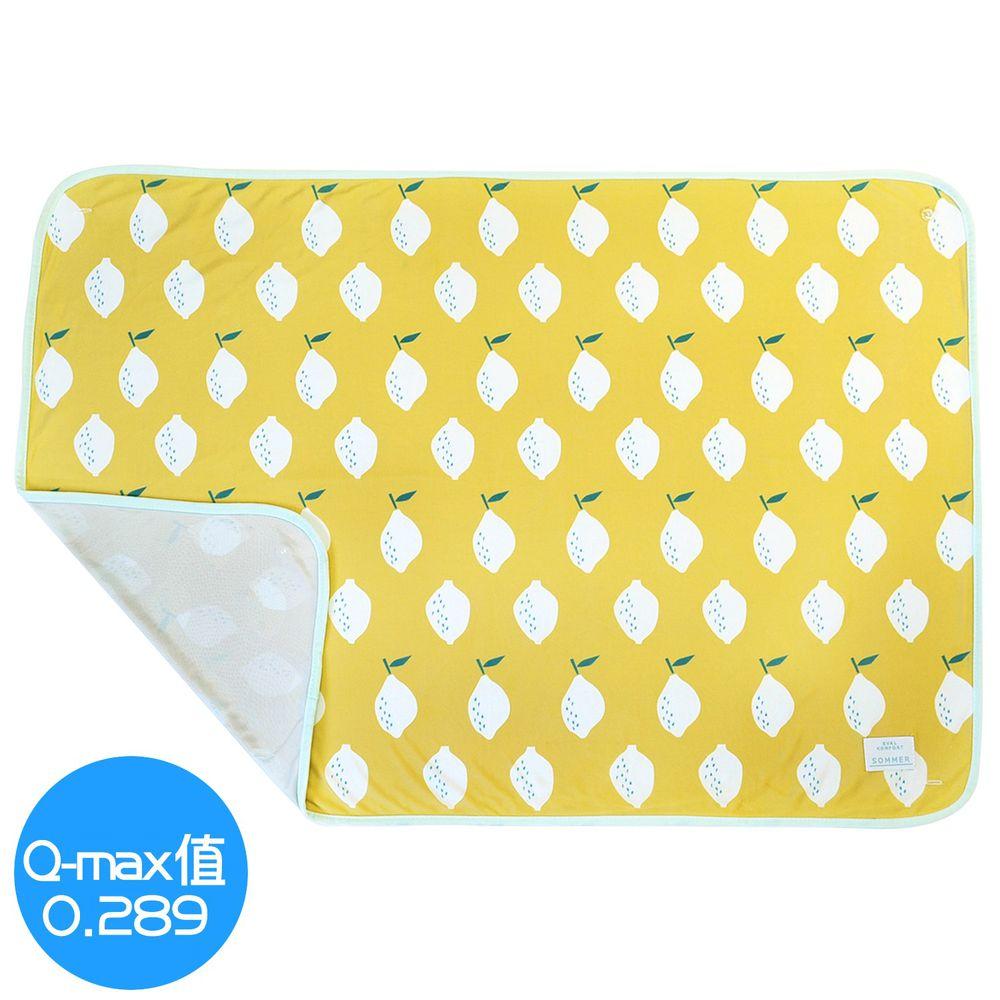 日本 DAIKAI - 3way 接觸涼感蓋毯/披肩/小外套-清新檸檬-黃 (100x70cm)