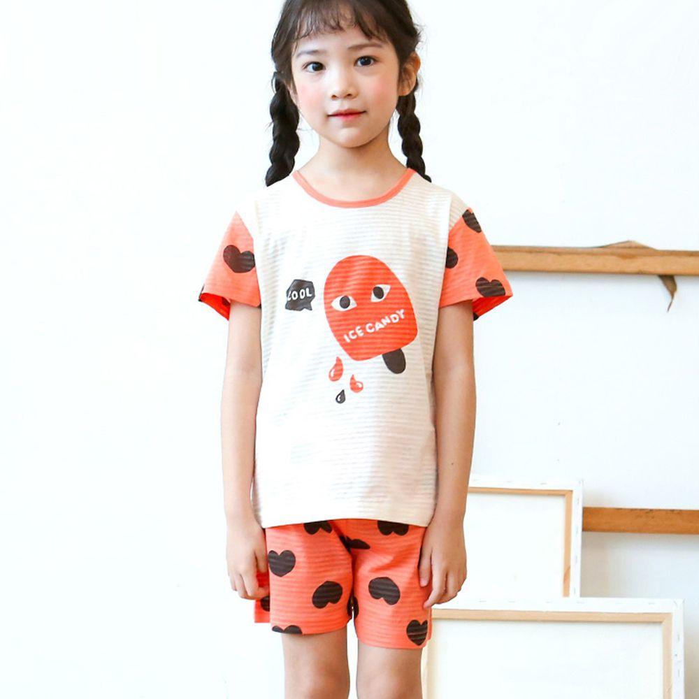 韓國 Maykids - (剩100號)有機棉透氣輕薄短袖家居服-夏日冰棒