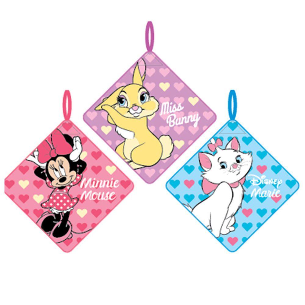 日本代購 - 卡通可掛式方巾/擦手巾三件組-米妮X邦尼X瑪麗 (28x28cm)