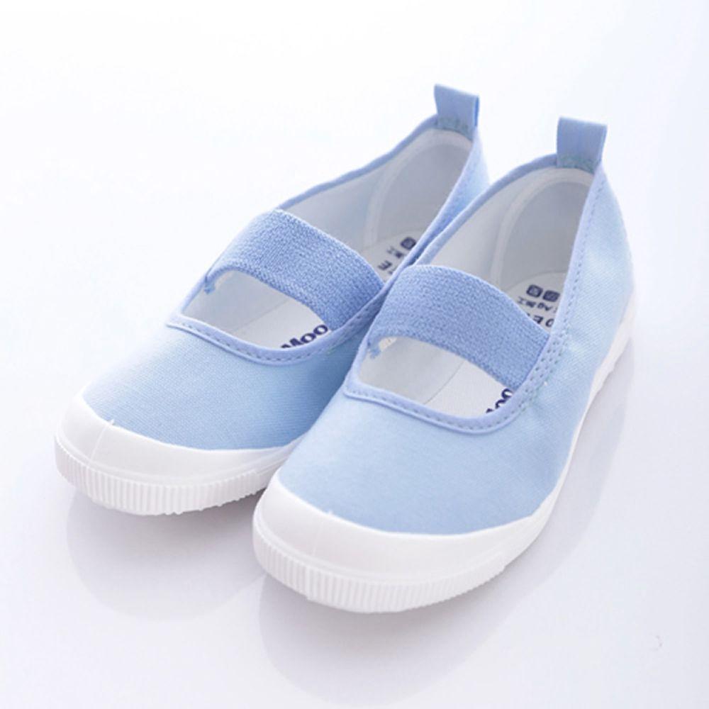Moonstar日本月星 - 日本月星機能童鞋-日本製新改款室內鞋鐵氟龍防潑版(中小童段)-淺藍