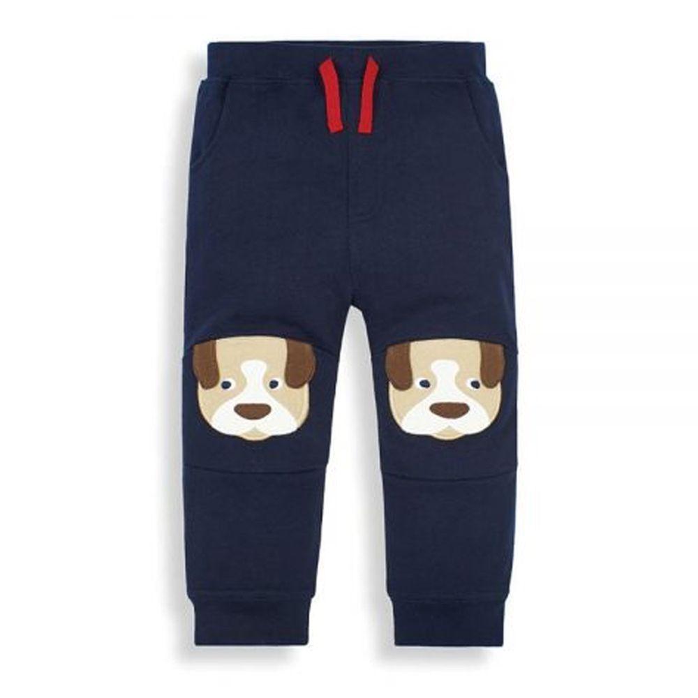 英國 JoJo Maman BeBe - 保暖100%純棉長褲-可愛狗狗