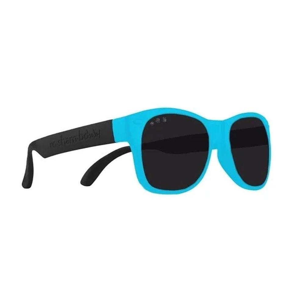 美國 Roshambo - Roshambo繽紛視界 時尚墨鏡-寶寶款-藍黑雙色-偏光黑 (0-3Y)