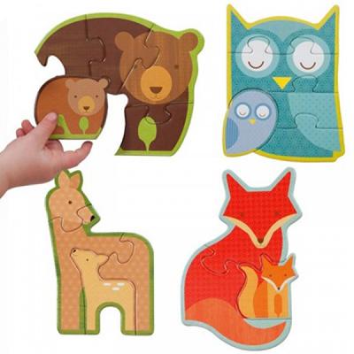 初階拼圖-森林動物-3、4、5及6片