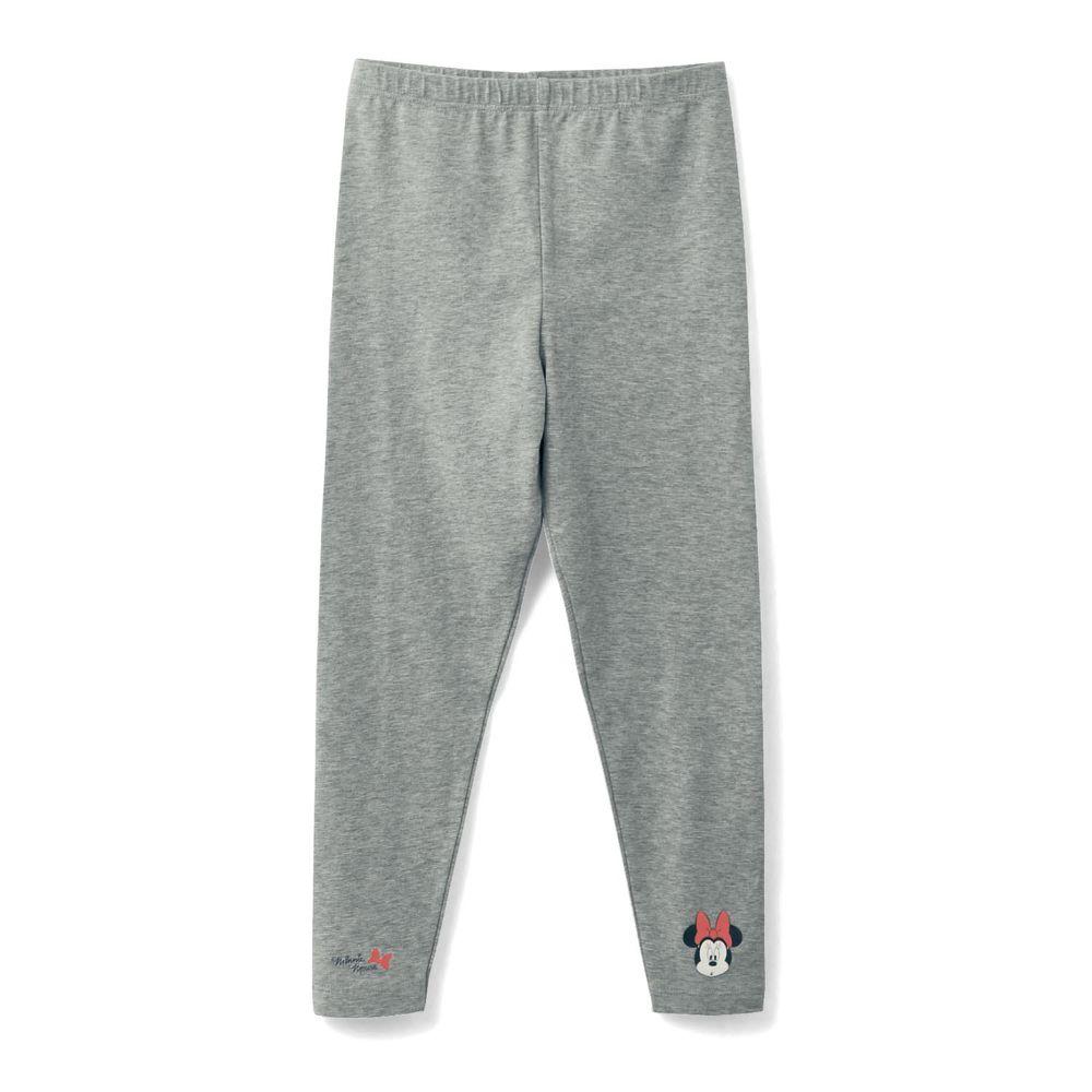 日本千趣會 - 95%棉 (兒童) 迪士尼發熱褲-米妮-灰