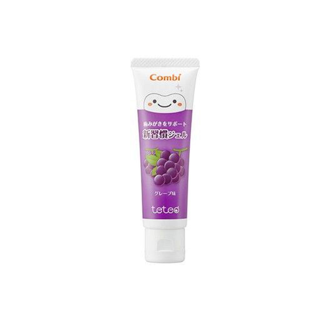 日本 Combi - teteo 幼童含氟牙膏-葡萄 (6顆牙(約9個月)以上適用)-含氟量500ppm