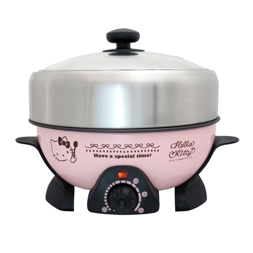 HELLO KITTY - 煎煮兩用電火鍋OT-520(台灣三麗鷗正版授權商品)