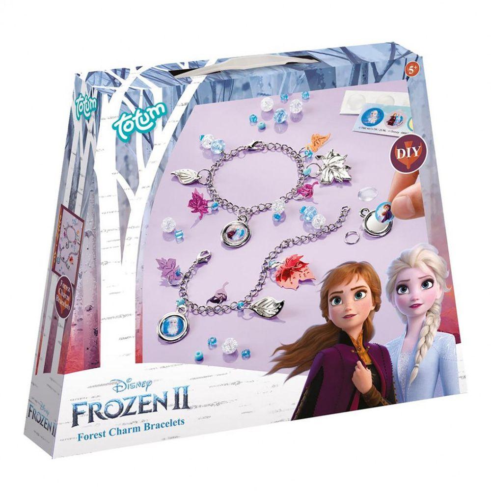 Disney 迪士尼 - 【新品】《 Disney 迪士尼 公主 》冰雪奇緣迷你手作系列-金屬手鍊組
