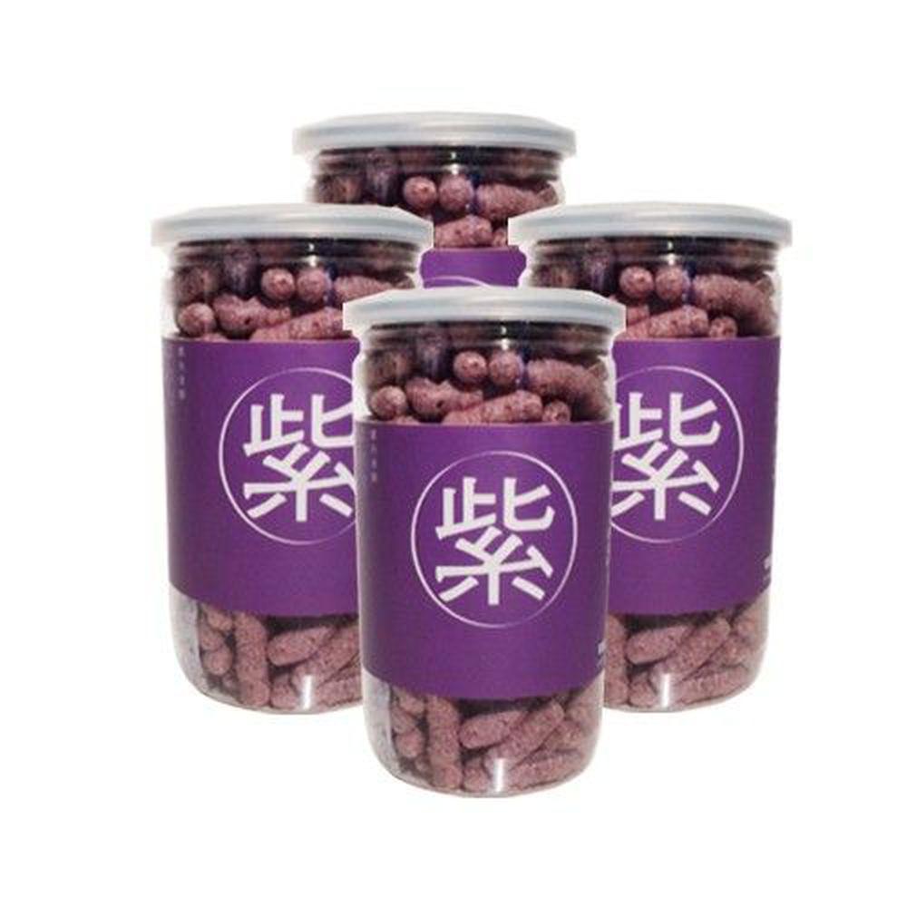 Let's Saga - 寶寶米餅買四件組-紫米口味-35g/罐*4
