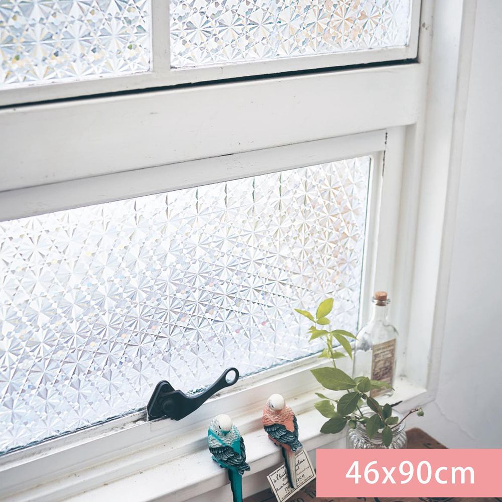 日本千趣會 - 日本製 99%抗UV光影窗貼(靜電式)-雪花窗花