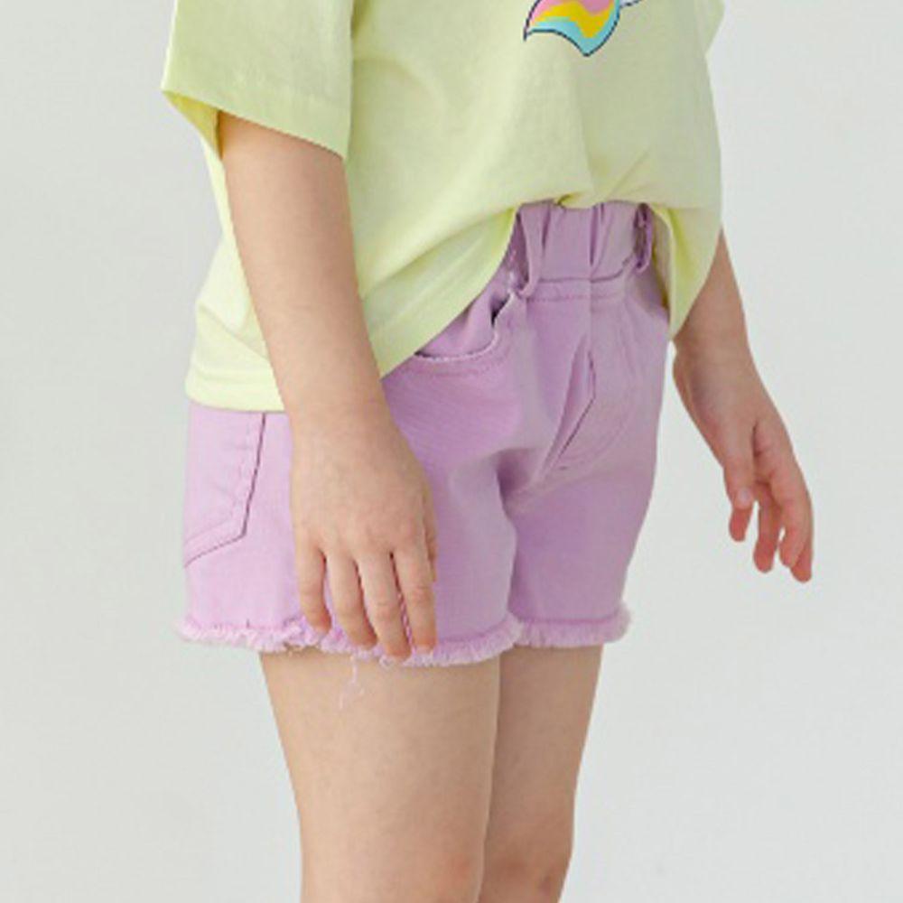 韓國 Orange Mom - 馬卡龍抓鬚短褲-紫