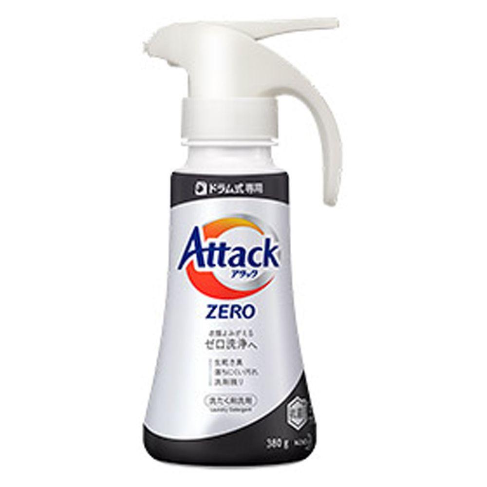 日本花王 - Attack Zero 超濃縮洗衣精-單手按壓式-(適合滾筒式式洗衣機)-380g
