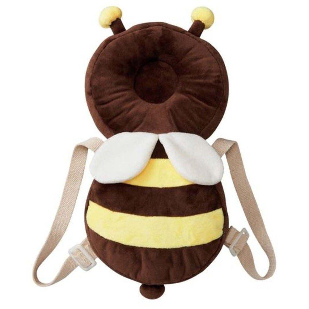 akachan honpo - 嬰兒防護枕背包-蜜蜂-咖啡色