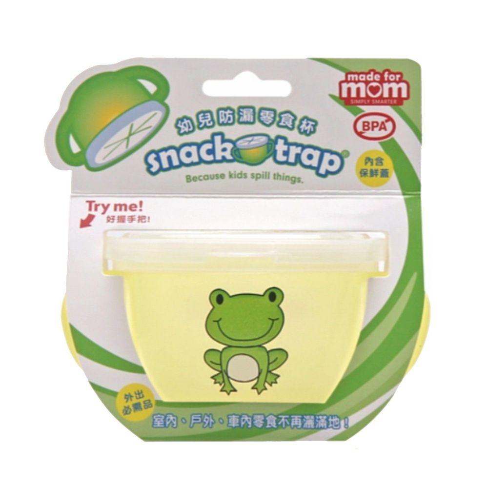 美國 Snack-Trap - 防漏零食杯組(含保鮮蓋)-黃底青蛙