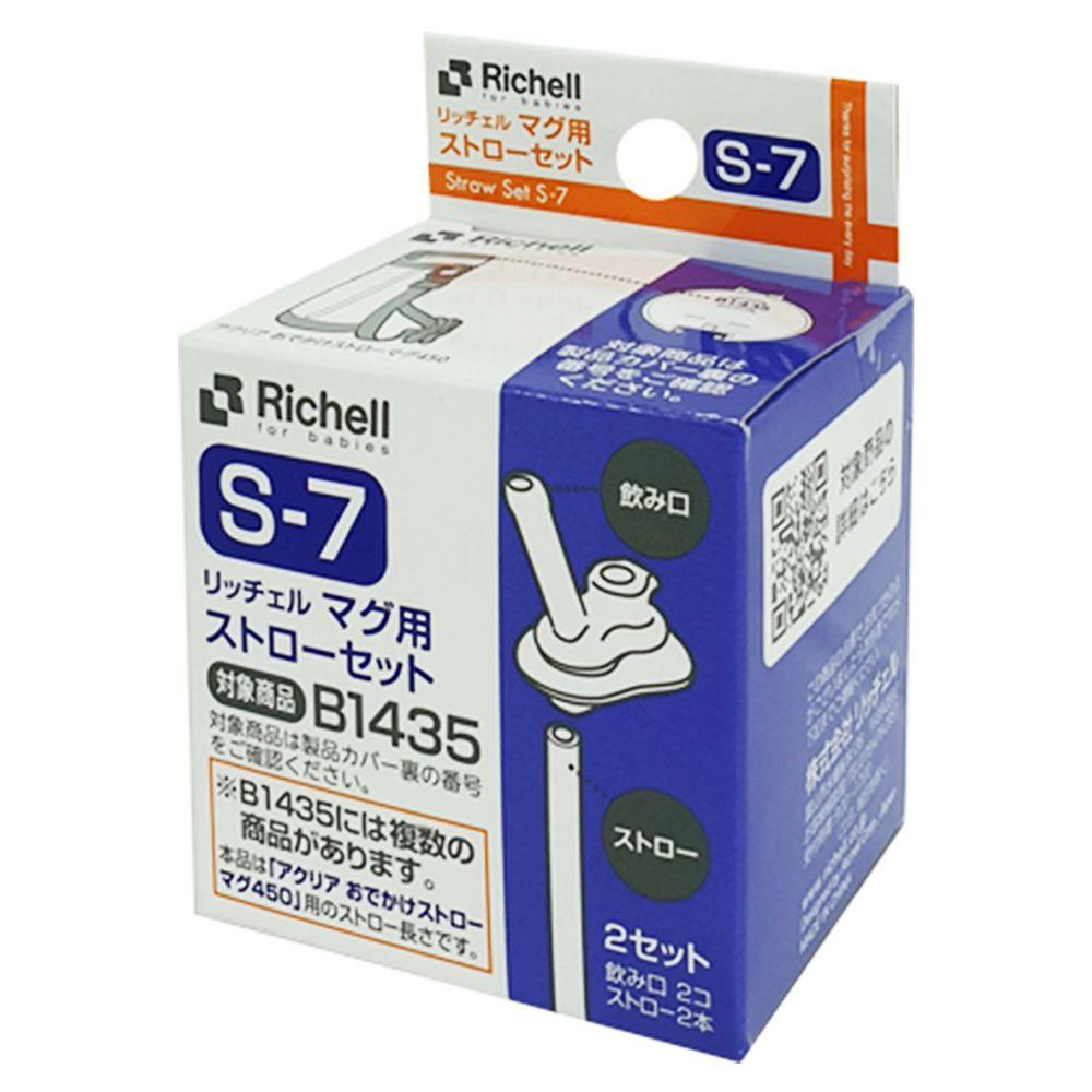 日本 Richell 利其爾 - 冷水壺吸管配件_2組入