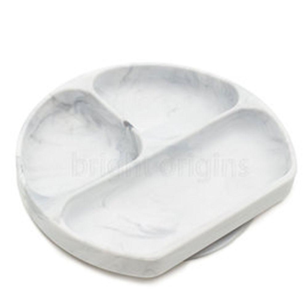 美國 Bumkins - 矽膠餐盤-大理石紋